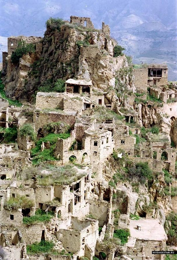 Caucasus mountains Gamsutl ancient Avar ruins Dagestan North Caucasus