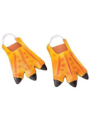 Orange Adulte Poulet Canard Pieds Pantoufles animaux caoutchouc accessoire robe fantaisie nouveau