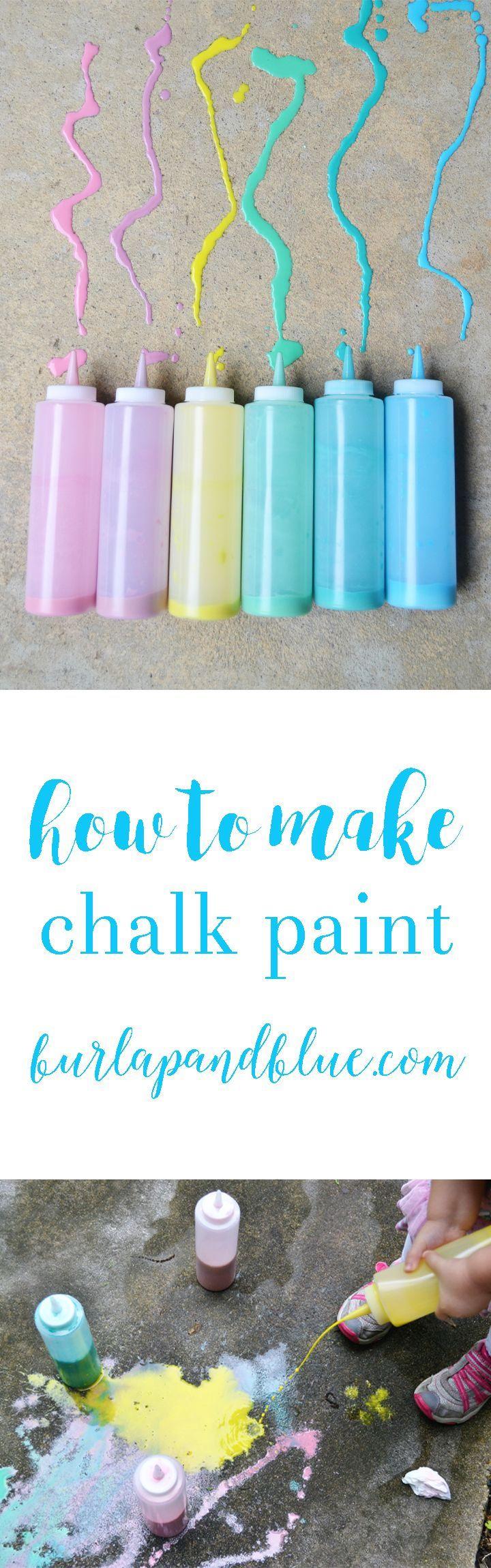 homemade sidewalk chalk paint! the perfect summer activity for kids! #HugtheMess #cbias #ad