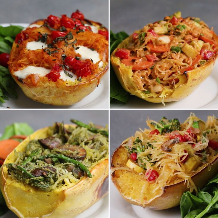Spaghetti Squash 4 Ways (Easy Dinner For 2!)