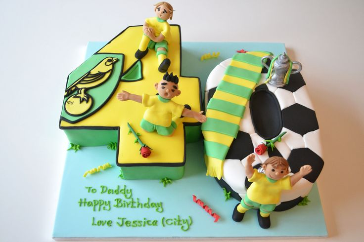 https://flic.kr/p/dnWokY | Norwich city football cake