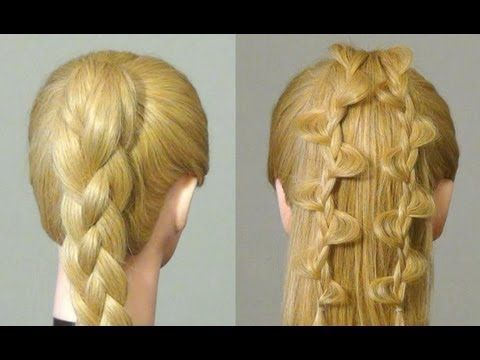 Both hairstyles look great but I love how the one on the right looks as if there were leaves on her hair =)