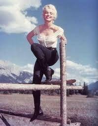 """Marilyn Monroe in """"River of no Return."""""""