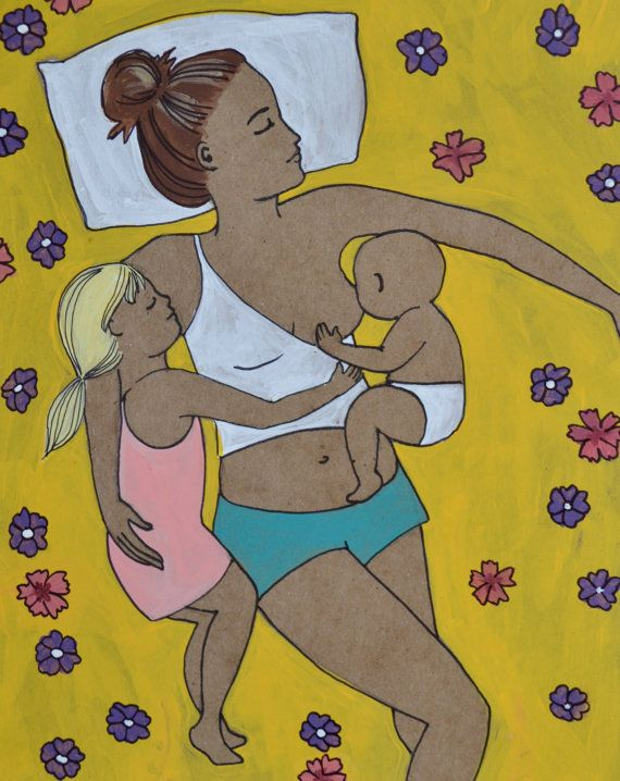 SLEEPS// 8.5 x 11 original art print/ nursing/ breastfeeding art/ mothering art/ cosleeping/ spiritysol