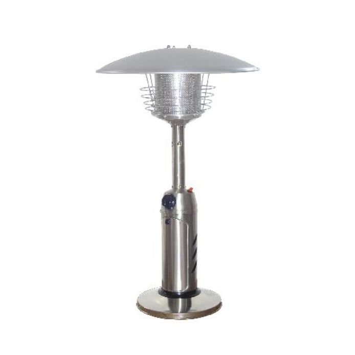 PrimeGlo HLDS032-B Tabletop Propane Patio Heater - Stainless Steel (Silver), Outdoor Décor