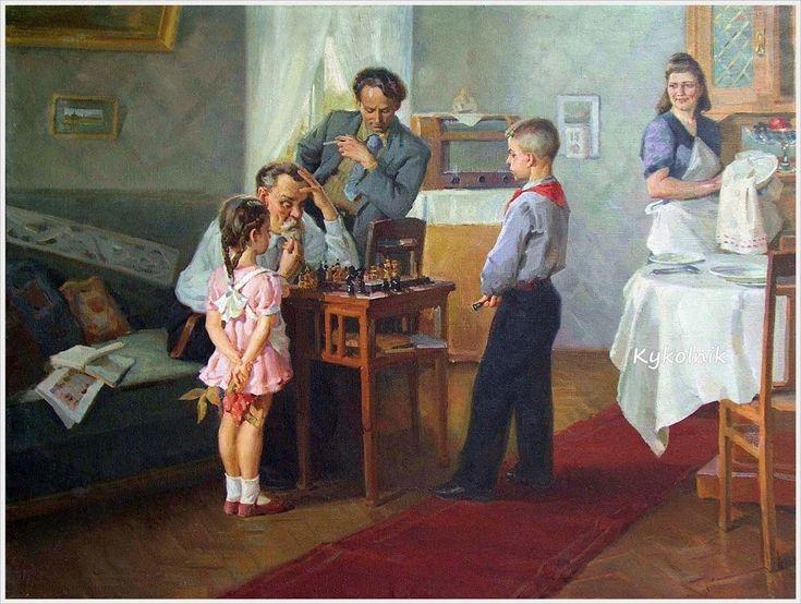 Солодовников Алексей Павлович (Россия, 1928) «Юный шахматист» 1951
