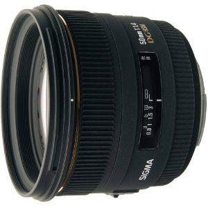 Sigma 50mm f/1.4 EX DG HSM Lens for Canon Digital SLR Cameras,