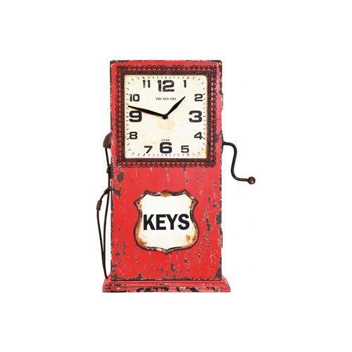 Boite à clé - Station d'Essence Horloge Rouge : en vente sur RueDuCommerce #deco #vintage