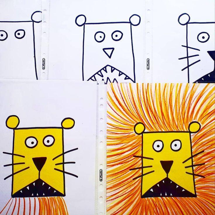 Ob Vertretungsstunde, Kunstunterricht oder zum Buch vom Löwe der nicht schreibe… – Sabine Jung
