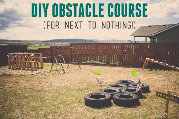DIY Obstacle Course for free