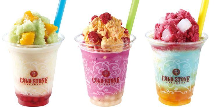 """「Cold Stone Creamery(コールド・ストーン・クリーマリー)」の2017年夏のテーマは""""カラフル スプラッシュ パーティー""""。見た目も味も楽しめる夏季限定アイテムがお目見え中。"""