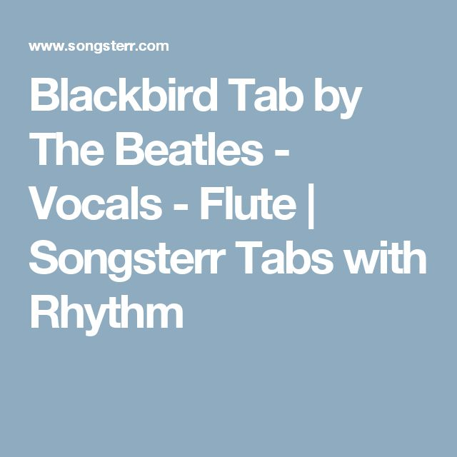 1000+ ideas about Blackbird Beatles on Pinterest : Acoustic guitar lessons, Guitar lessons and ...