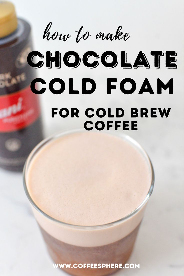 How to make cold foam for cold brew coffee coffeesphere