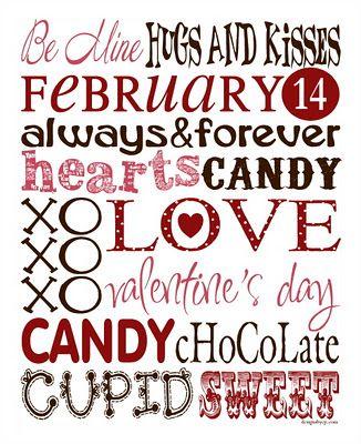 Valentine Printable.  Cute Subway Art - print & frame!