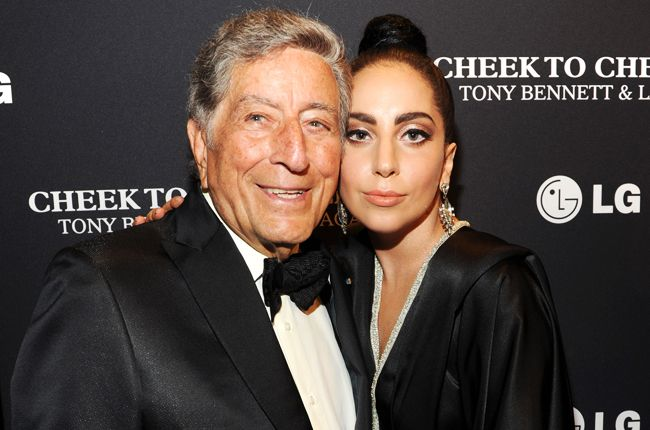 """July 28: Tony Bennett and Lady Gaga arrive to their """"Cheek To Cheek"""" taping at Jazz at Lincoln Center in New York City."""