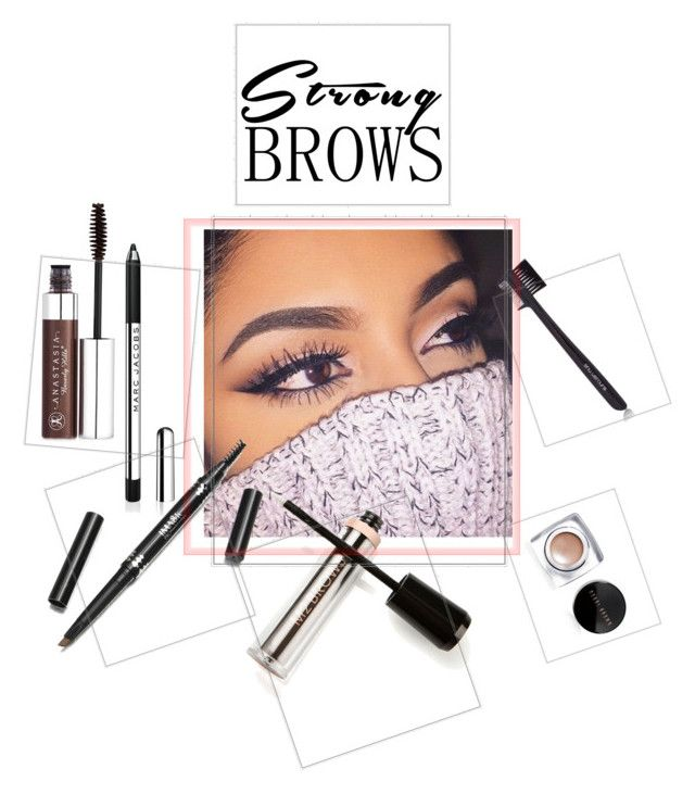 Strong brows by sarks on Polyvore featuring polyvore, beauty, Anastasia Beverly Hills, Bobbi Brown Cosmetics, shu uemura, M2BEAUTÉ, BeautyTrend, strongbrows and boldeyebrows