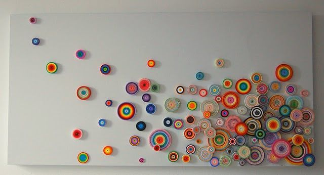 Quilled art-I have all my moms old Quilling stuff, but it always seemed so 70's. But this is AWESOME!