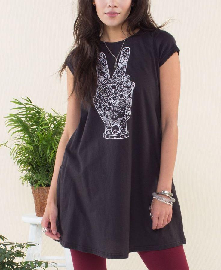 NEW! Peace Fingers T-Shirt Dress