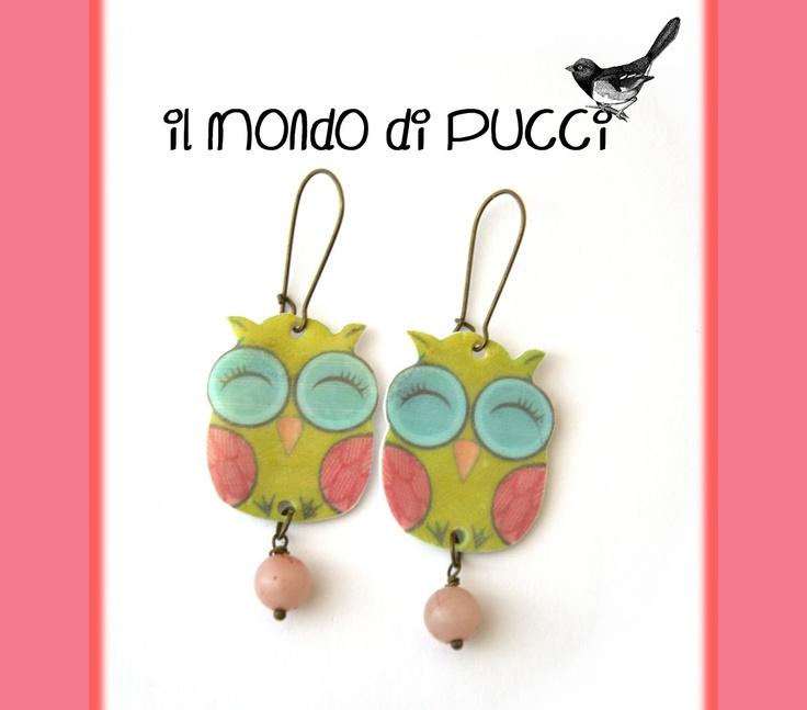 Il mondo di Pucci: ♥ Orecchini GUFO