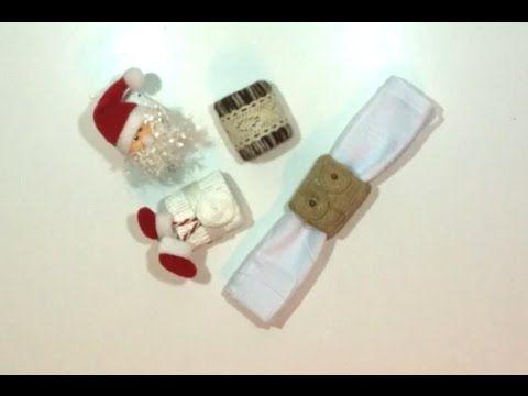 Servilleteros navideños reciclando tubos de papel higiénico - YouTube
