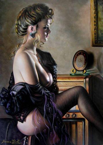 Nudo di donna FP5, olio su tela 50x70 cm di Francesco Pezzella.
