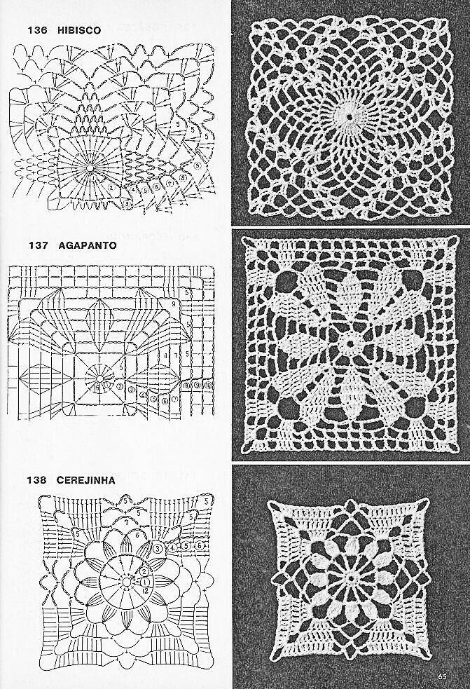 Free crochet square pattern graph design granny motif