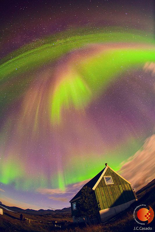 A spectacular full sky oval Aurora Borealis ~ in Greenland