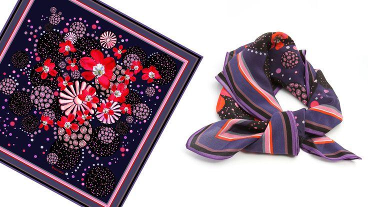 Scarlet Parisian Crepe Silk Scarf  By Onikann: Silk Scarfs, Prints Silk, Ahalife Com, Dark Jewels, Crepes Silk, Be Beautiful, Scarlet Parisians, Silk Scarves, Parisians Crepes