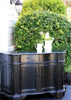 Refinish-repurpose furniture: Glossy Black, Rubbed Black, Black Finish, Tutorial, Black Furniture, Cape Cod, Diy Projects
