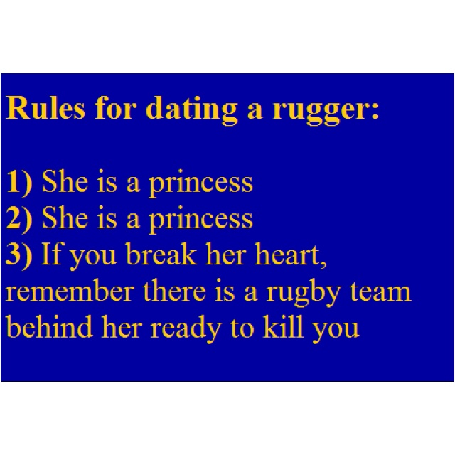 tips for dating a rugby girl