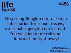 """Google Scholar ist großartig. Hinweis: Wenn Sie """"…"""