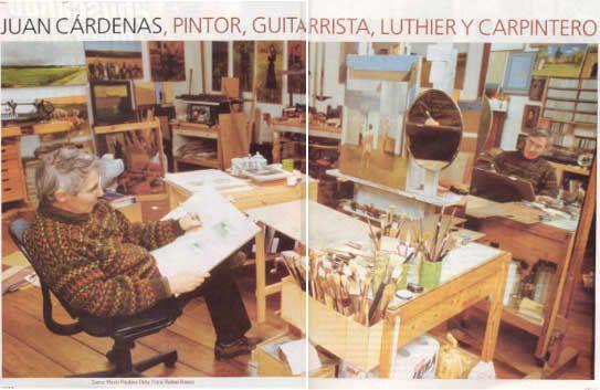 Juan Cardenas, pintor, en su estudio - Foto: Rafael Baena