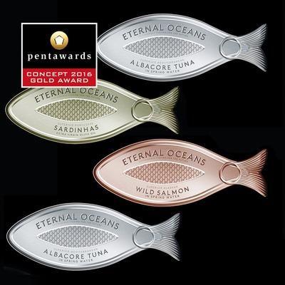 06Poissons en conserves Eternal Oceans / 25 emballages alimentaires primés aux Pentawards 2016 / Photothèque - Process Alimentaire, le magazine de l'industrie agroalimentaire