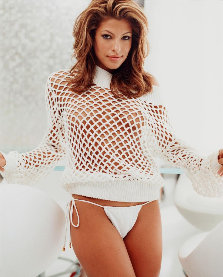Eva mendes fur bikini
