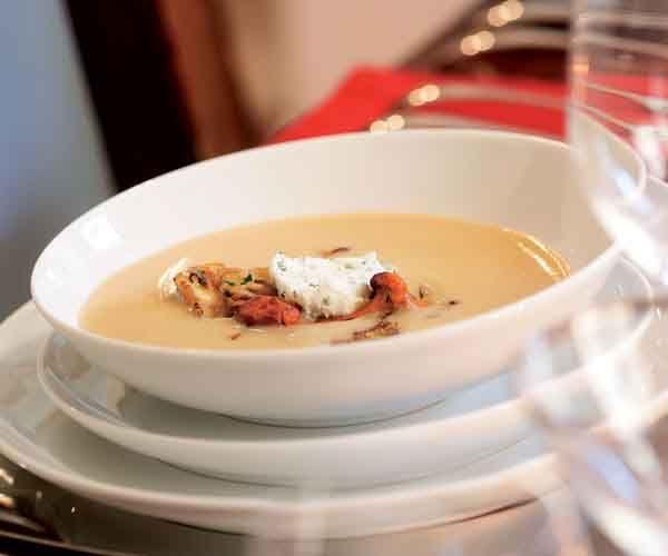 White Bean Soup with Wild Mushrooms & Chive Mascarpone | Recipe