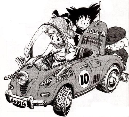 Bulma, Goku and Oolong