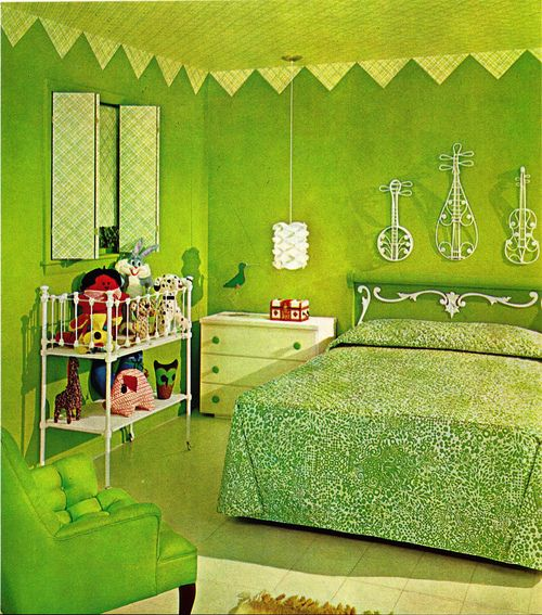 Lime Green Bedroom Ideas Dark Green Bedroom Ideas Green: 95 Best Images About Vintage Tacky On Pinterest