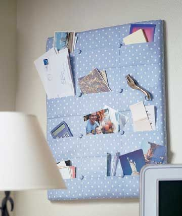 Pocket Board in your favorite fabric #diy #crafts