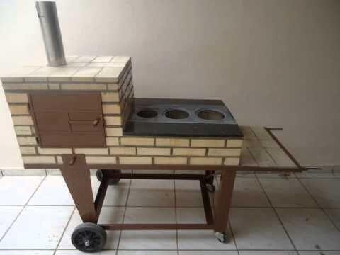 FOGÃO ECONÔMICO GOIANO - YouTube Pequeno prático e portável, fogão a lenha, churrasqueira e forninho!