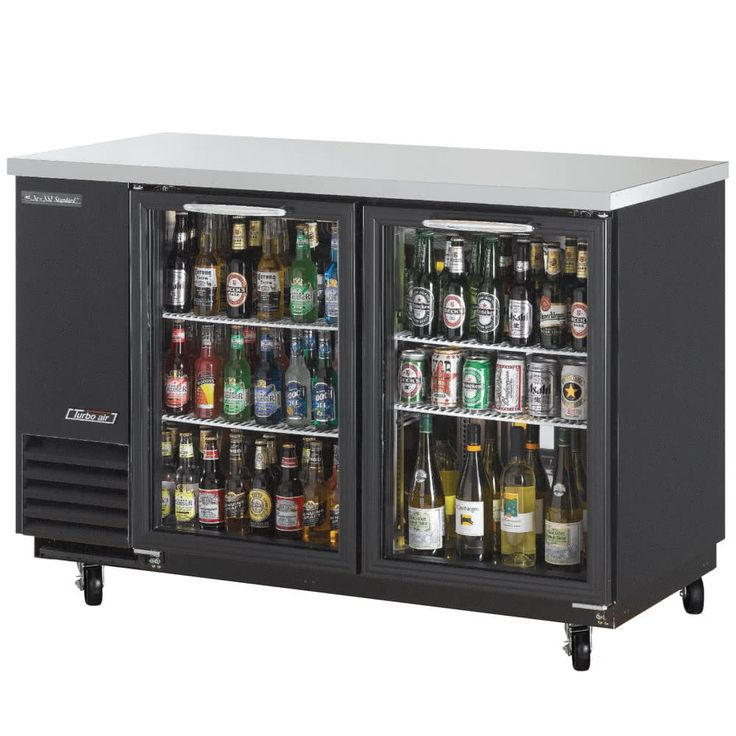 Back Bar Refrigerator With Glass Doors