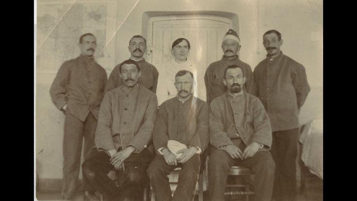 « Quelques poilus de l'hôpital d'Héricourt » : photographie prise en avril 1915.