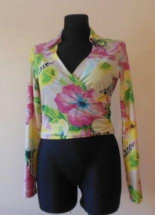 Kup mój przedmiot na #vintedpl http://www.vinted.pl/damska-odziez/bluzki-z-dlugimi-rekawami/16287930-morgan-neonowa-bluzka-kwiaty-38