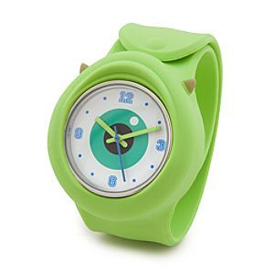 B - Disney Mike Wazowski Slap Watch - Monsters University | Disney StoreMike Wazowski Slap Watch - Monsters University - Keep an eye on the time wearing Mike's soft and squishy wristwatch with flexible band that slaps and wraps comfortably around almost any wrist. It's the timepiece that watches you!