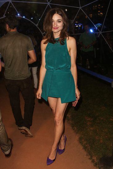 Emerald Goddess | Crystal Reed attended MTV2's Party in the Park as part of Comic-Con on Thursday night.