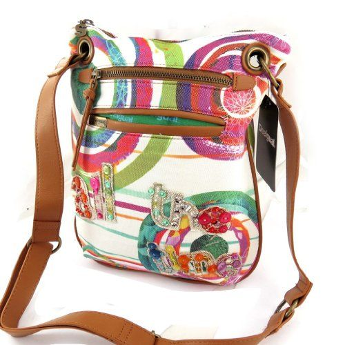 Shoulder bag Desigual multicoloured beige.