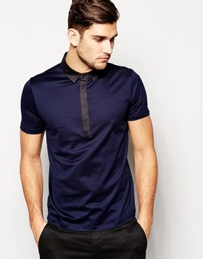HUGO by Hugo Boss Polo with Contrast Collar