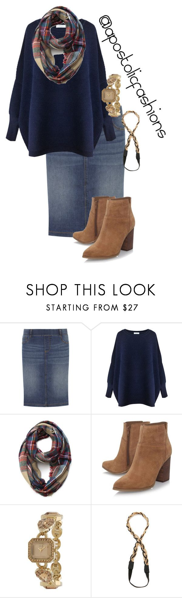 """Apostolic Fashions #1610"" by apostolicfashions ❤ liked on Polyvore featuring Dorothy Perkins, Paisie, Nine West, GUESS, Jules Smith, modestlykay and modestlywhit"