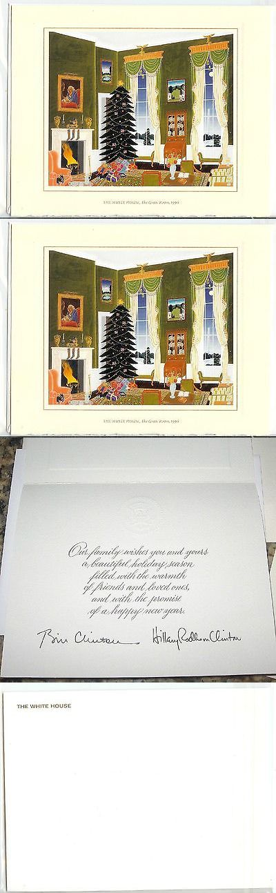 Bill Clinton: 1996 White House Official Christmas Card President Bill Clinton *New* BUY IT NOW ONLY: $12.95
