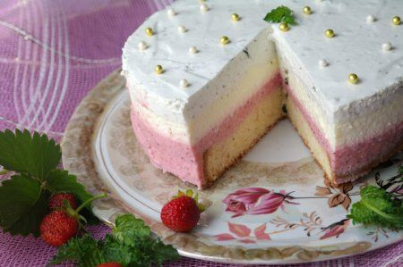 """Торт """"Клубничное Мохито"""""""