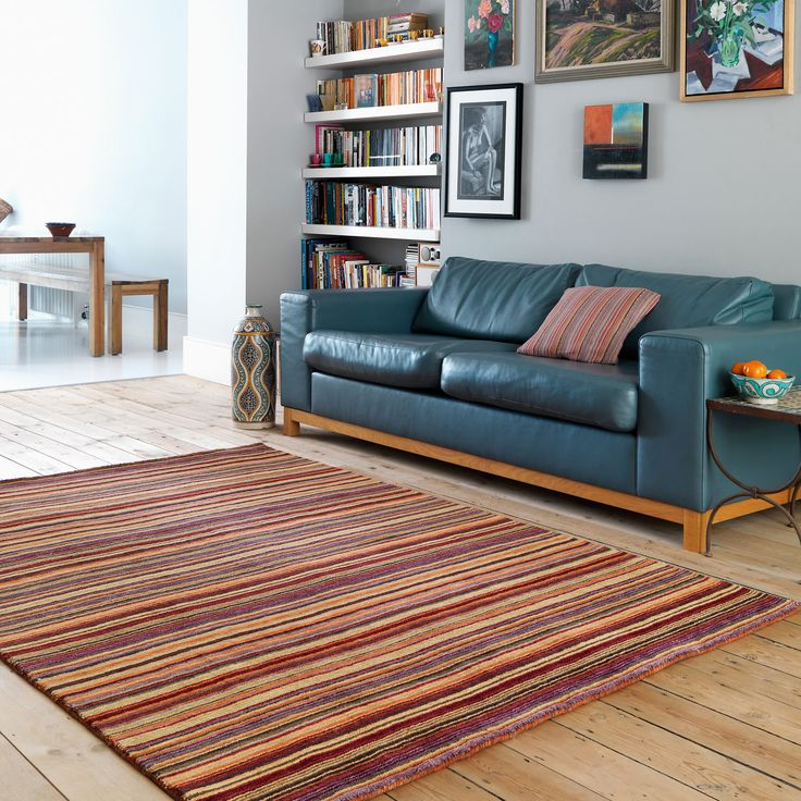 Joseph Rugs Feature A Contemporary Design With Intricate Coloured Stripes.  #ModernHomes #Decor Part 97